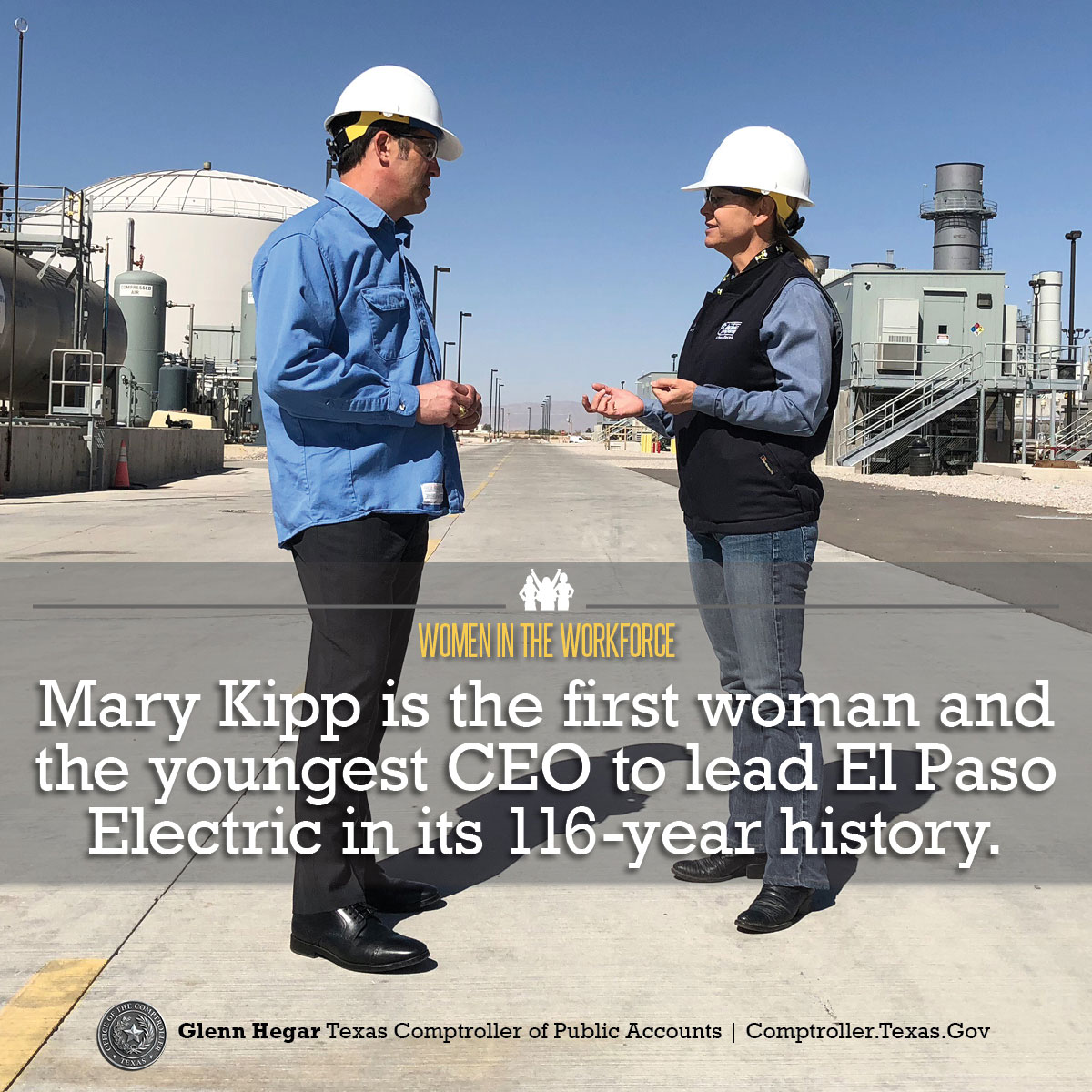 Women in the Workforce -  Mary Kipp is the first woman and the youngest CEO to lead El Paso Electric in its 116-year history.