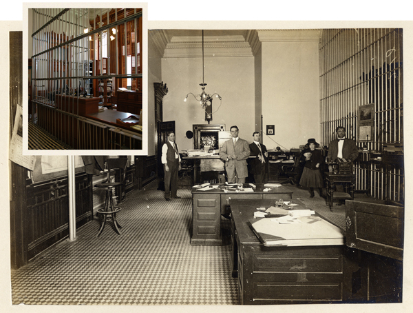 old photo of treasury operations