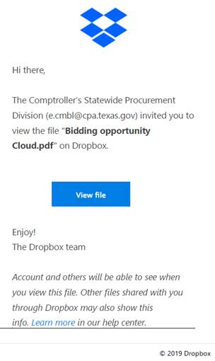 example of dropbox phishing email