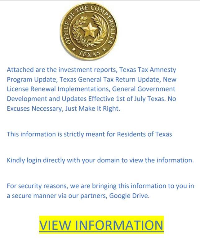 example of spoofed govdelivery email