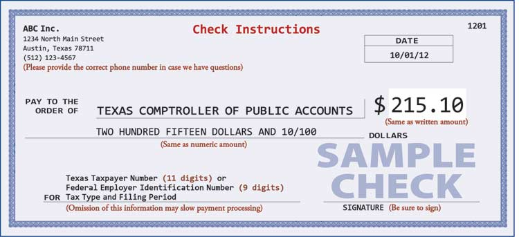 proper check writing procedures for tax payments check sample